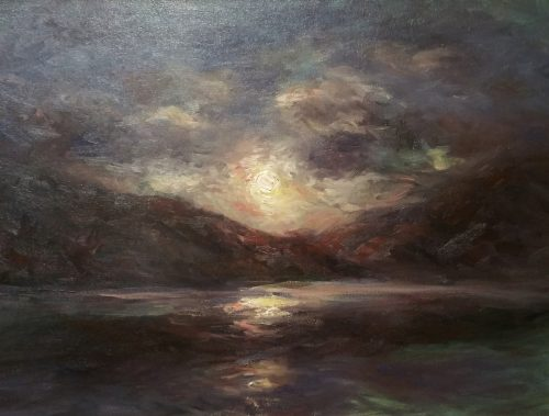 Across The Lake Fine Art Oil Painting