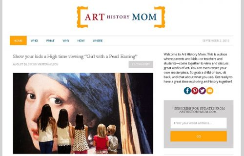 Fine Art Mom - Art History Mom blog pic