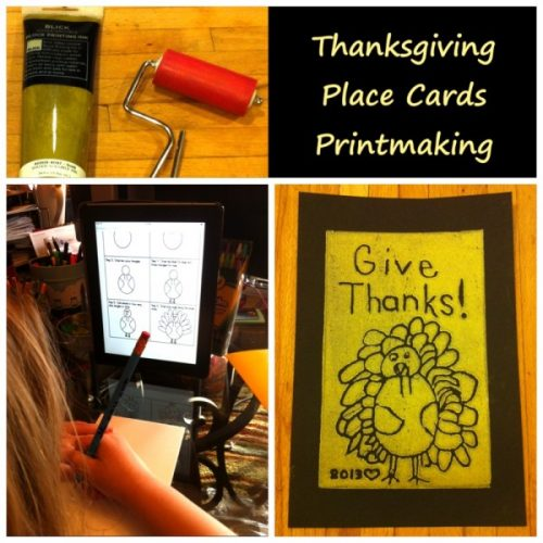 Thanksgiving Place Cards Eye Can Art Kits for Kids