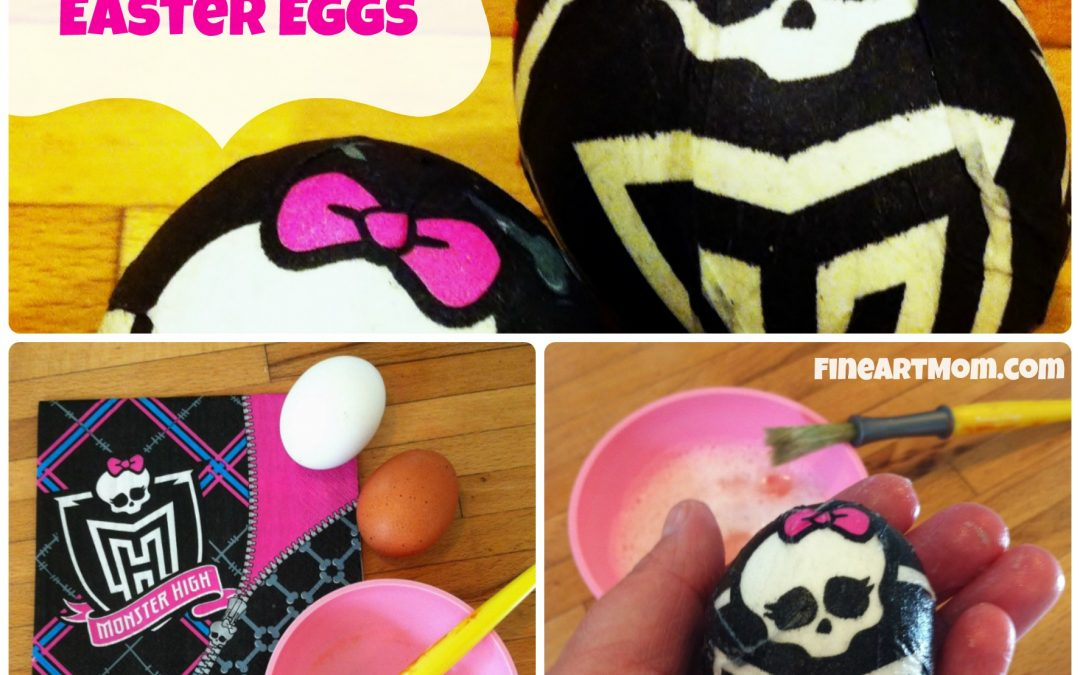 How to Make Paper Napkin Easter Eggs:  Monster High!