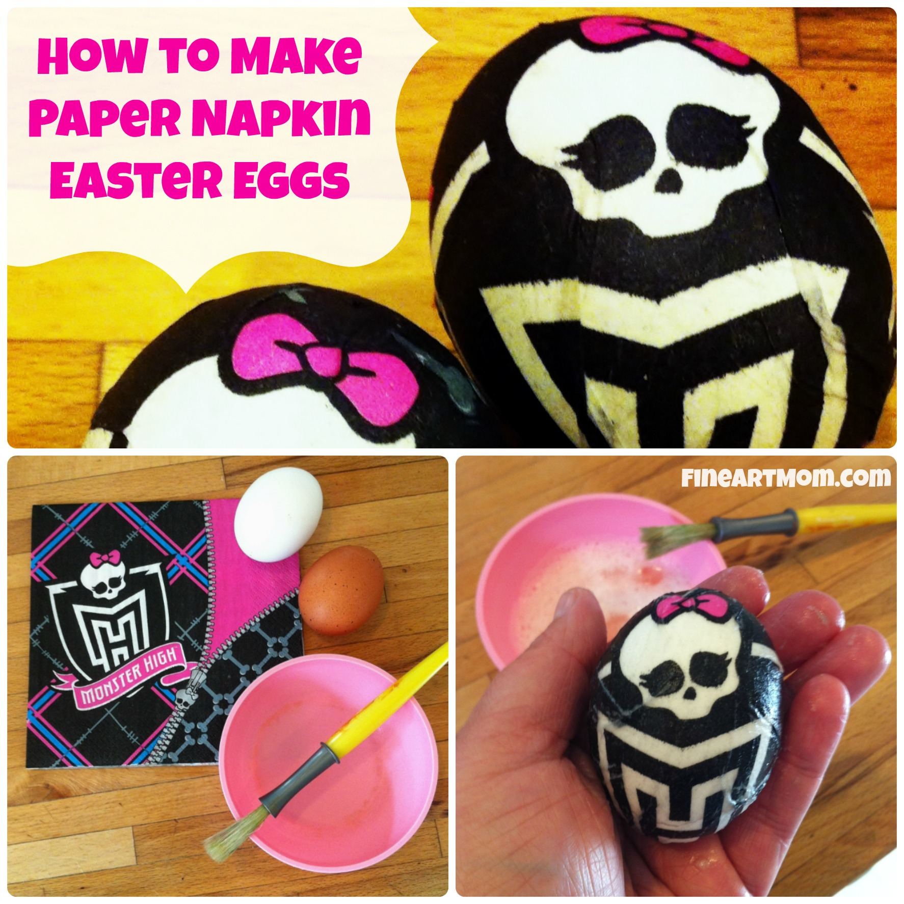 How to Make Paper Napkin Easter Eggs!