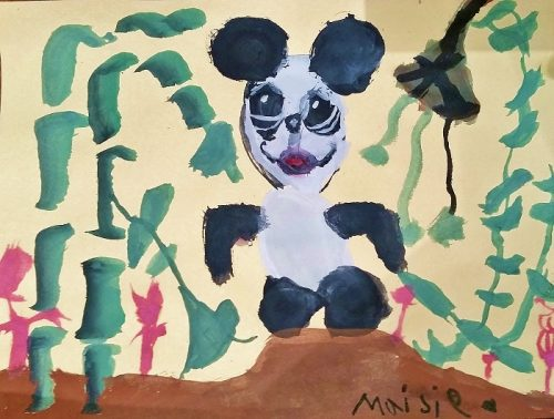 LACMA Panda Childrens Painting Fine Art Mom