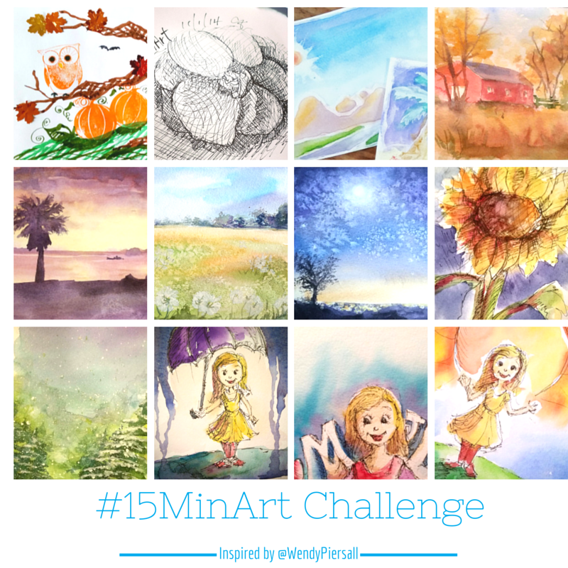 15 Minute Art Challenge on Instagram