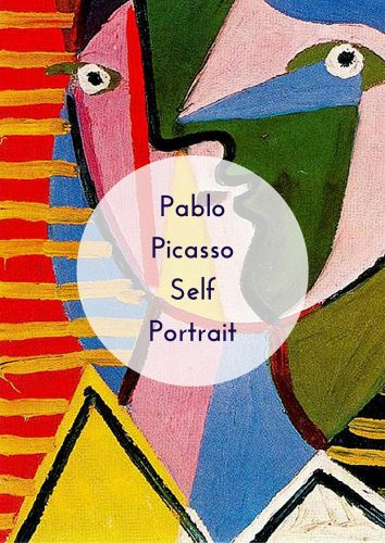 Easy Art Projects for kids Pablo Picasso Self Portrait