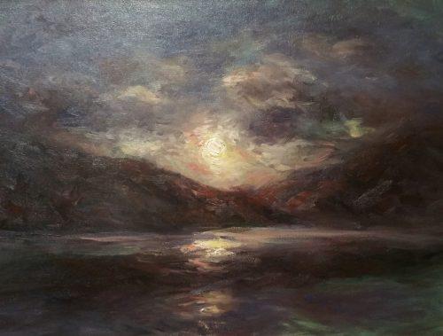 Across The Lake Fine Art Oil Painting