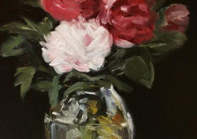 Bouquet of FlowersManet Floral Duplication Fine Art Oil Painting