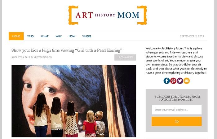 Fine Art Mom - Art History Mom blog pic