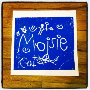 Fine Art Mom Eye Can Art Printmaking for Kids Name