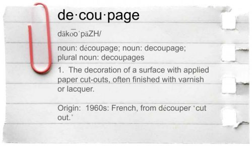 Decoupage Definition