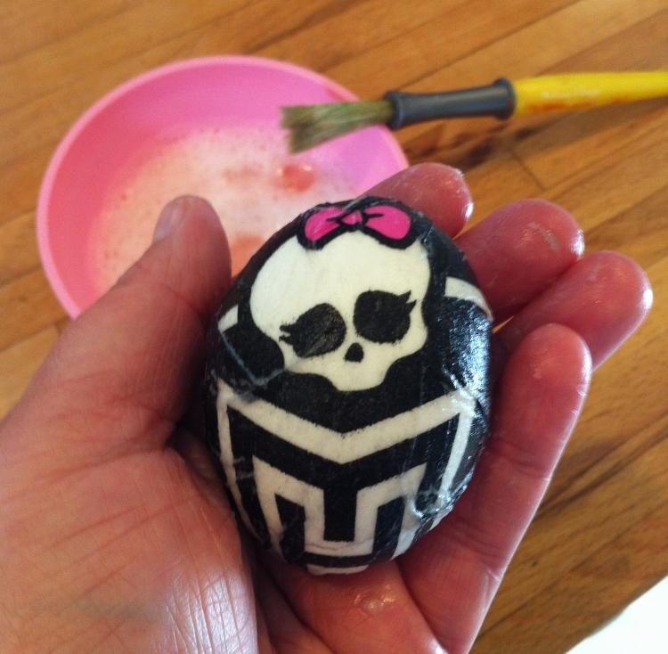 Paper Napkin Easter Eggs Fine Art Mom Monster High 2