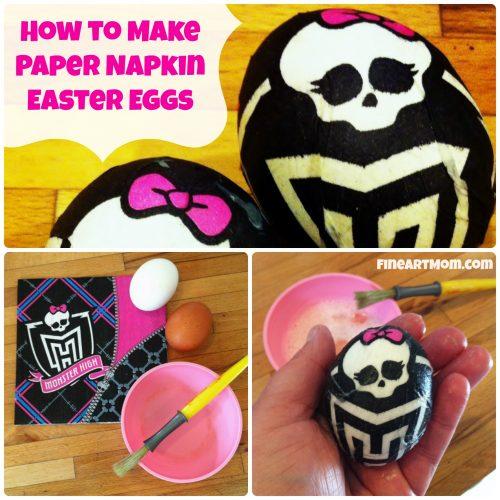 Paper Napkin Easter Eggs Monster High