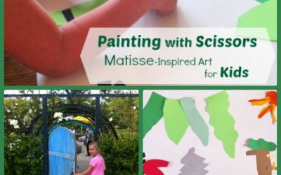 Art for Kids:  Matisse-Inspired Paper Cutouts