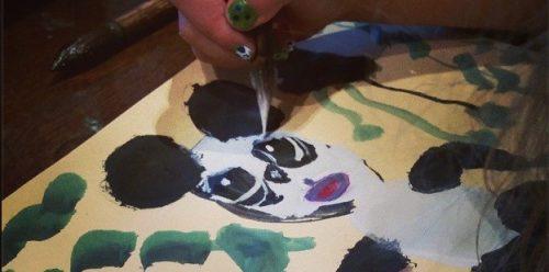 Panda Painting Fine Art Mom