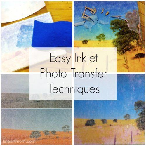 Fine Art Mom Photo Transfer Art Project