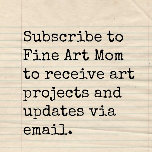 Fine Art Mom Email Subscribe