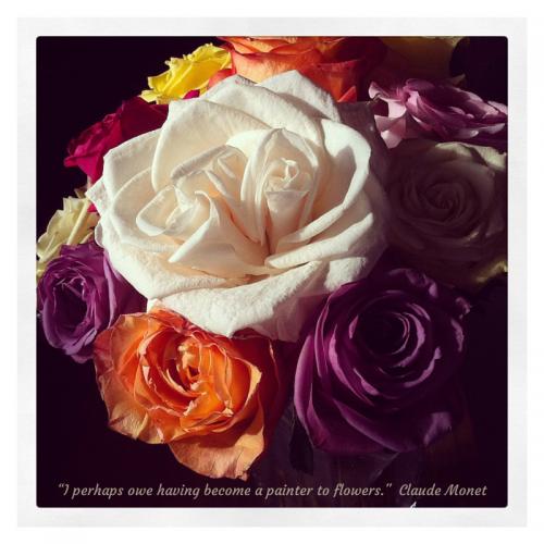 Monet Flower Quote Fine Art Mom