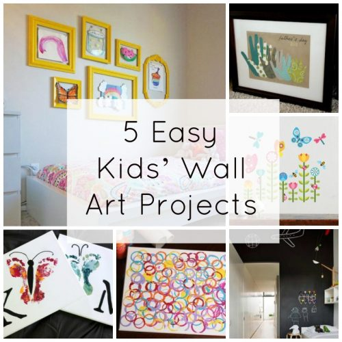 5 Easy Kids Wall Art Projects