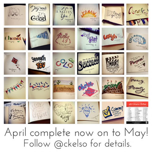 Better Lettering Course April Instagram Challenge