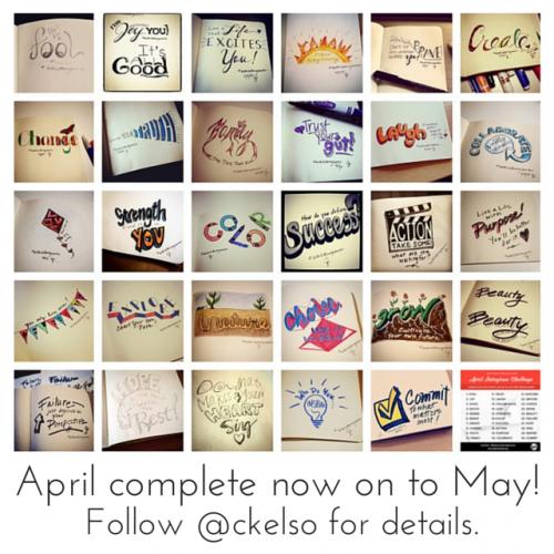 Better Lettering Course April Instagram Challenge