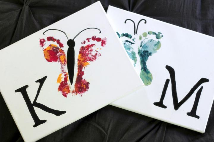 5 Easy Kids Wall Art Projects Hand and Footprint Art