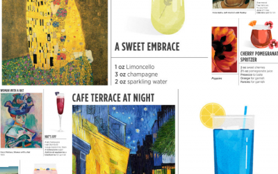 7 Art Inspired Craft Cocktails For Your Next P'ART'Y!