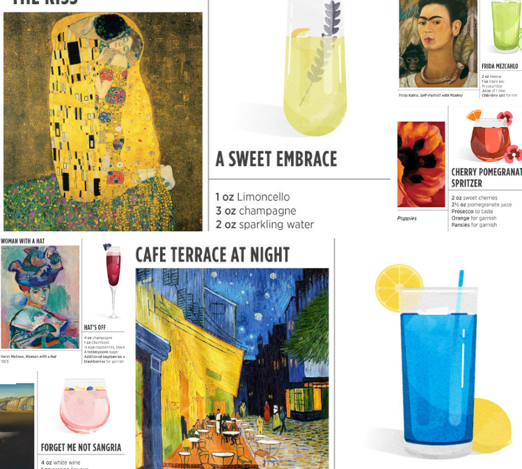 Art inspired craft cocktails