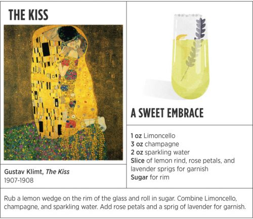 the-kiss-sweet-embrace art history inspired cocktail
