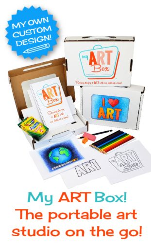 My ART Box art set for kids. Portable art studio with tabletop easel