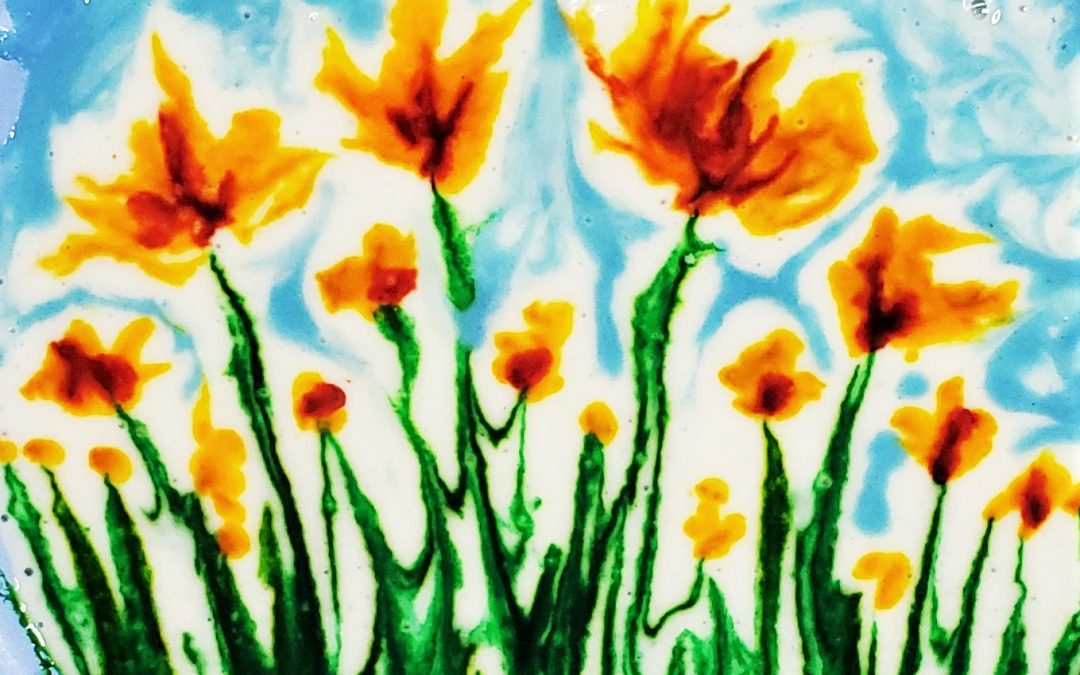 Puffy Paint Poppies:  THE Best Homemade Puffy Paint Recipe!